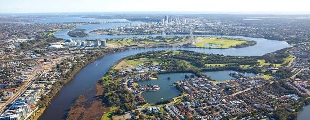 Ilustrasi kejadian Swan River di Perth