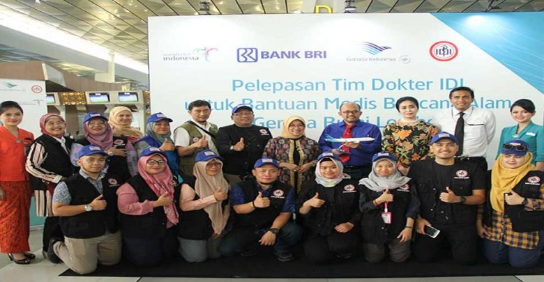 Garuda Indonesia Dan Bri Terbangkan Tenaga Medis Ikatan Dokter Indonesia (Idi), Bantu Korban Gempa Lombok