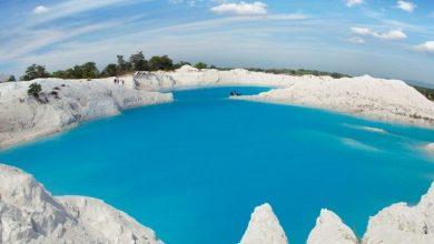 pesona danau biru bekas tambang