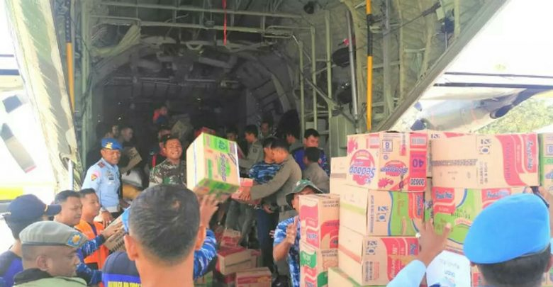 LOGISTIK PALU TERTAHAN DI HALUOLEO TNI ANGKATAN UDARA