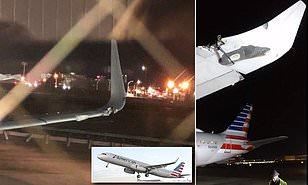 BADAN KESELAMATAN TRANSPORTASI AS SELIDIKI AMERICAN AIRLINES SETELAH TABRAK OBJEK DI LANDASAN